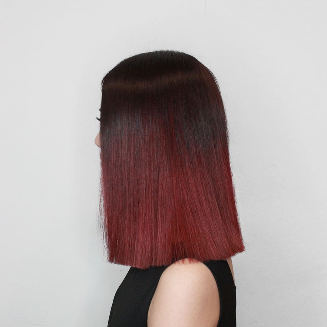 Griffindor Inspired Hair Colour Red Ombre