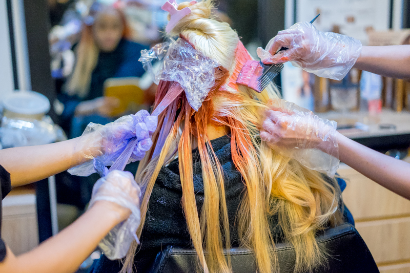 Hair Dyeing with Mydentity Rose Gold Hair Colour at Full House