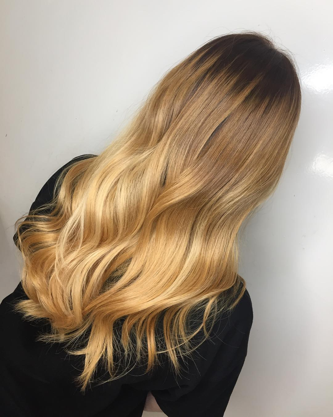 blonde balayage by the space