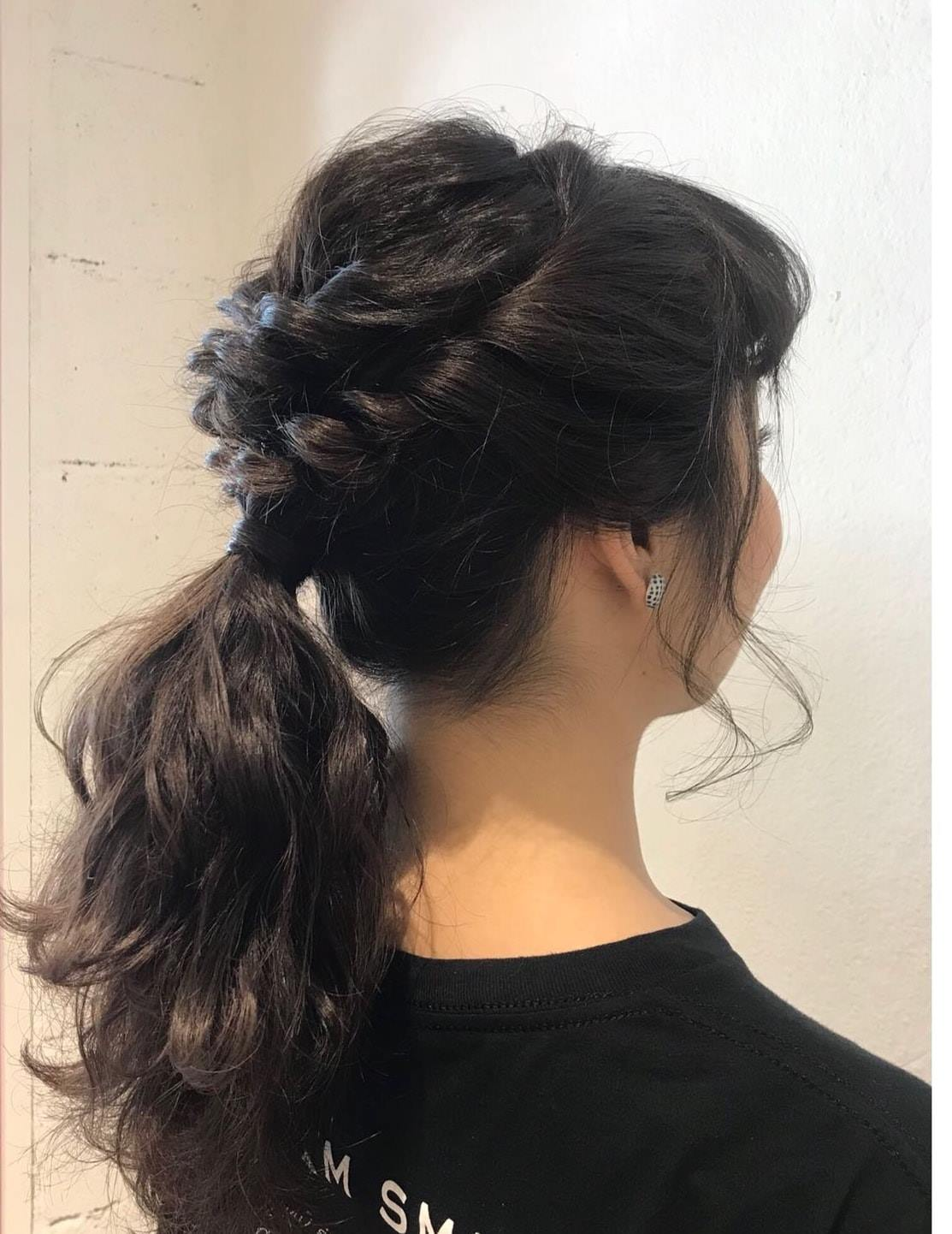 Braided Hairstyle for Deepavali by Koinonia Salon