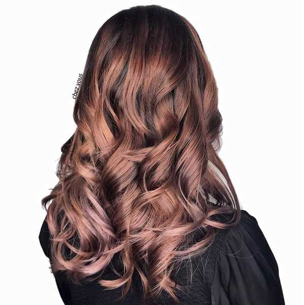 Reddish Brown Babylights and Balayage by Chez Vous