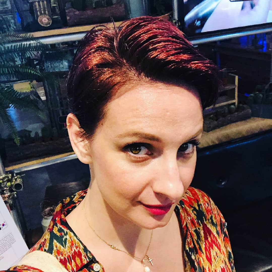 Caucasian Short Red Hair Colour by Manami From Walking on Sunshine