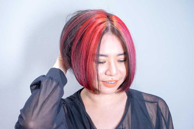 How I Look After Getting Flip-It Red Colour Bangs at Be Salon