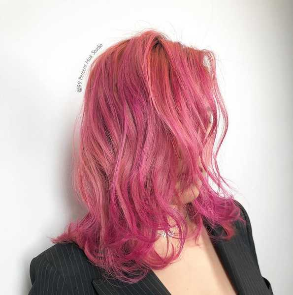 Vibrant Pink Hair Colour by 99 Percent
