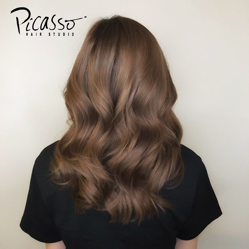 Golden Brown Hair Colour by Picasso Hair Studio