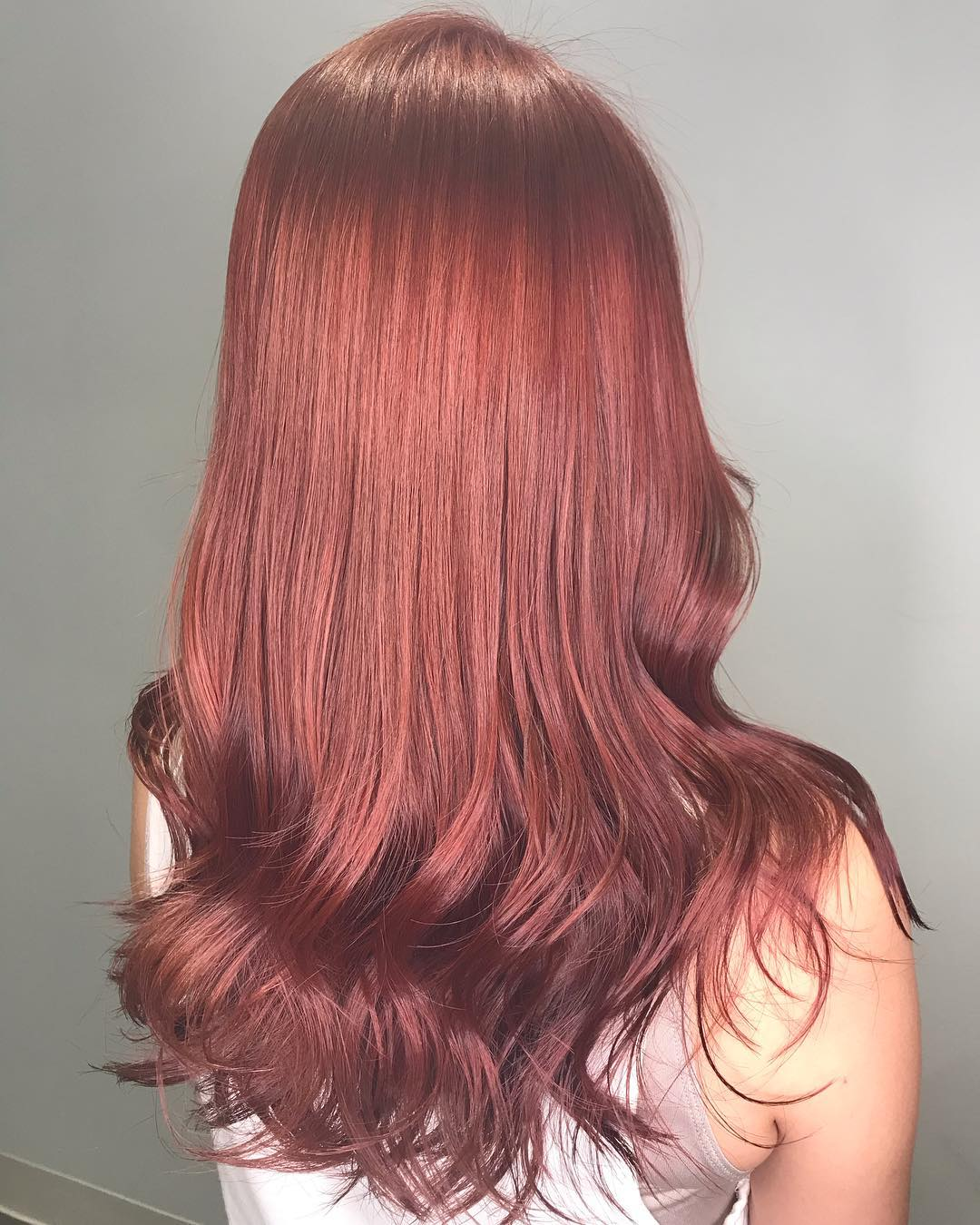 Red Hair Colour by Japanese Stylist Ken from Threes Japanese Hair Salon