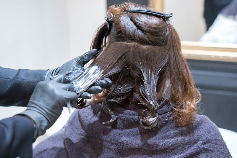 Getting Low Damage Perm at Branche Hair Salon