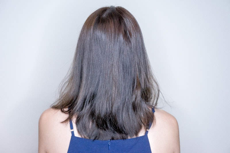 Before Getting Low Damage Paimore Perm at Branche Salon