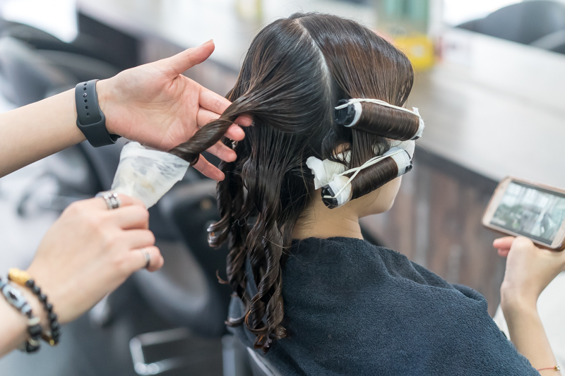 Getting a Perm on Frizzy Hair at Focus Hairdressing