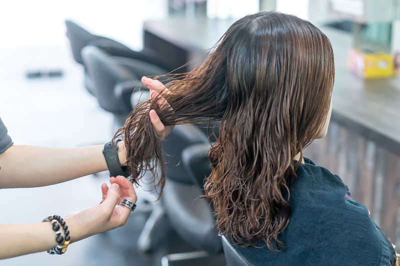 Hair Treatment Application Before Perm at Focus Hairdressing