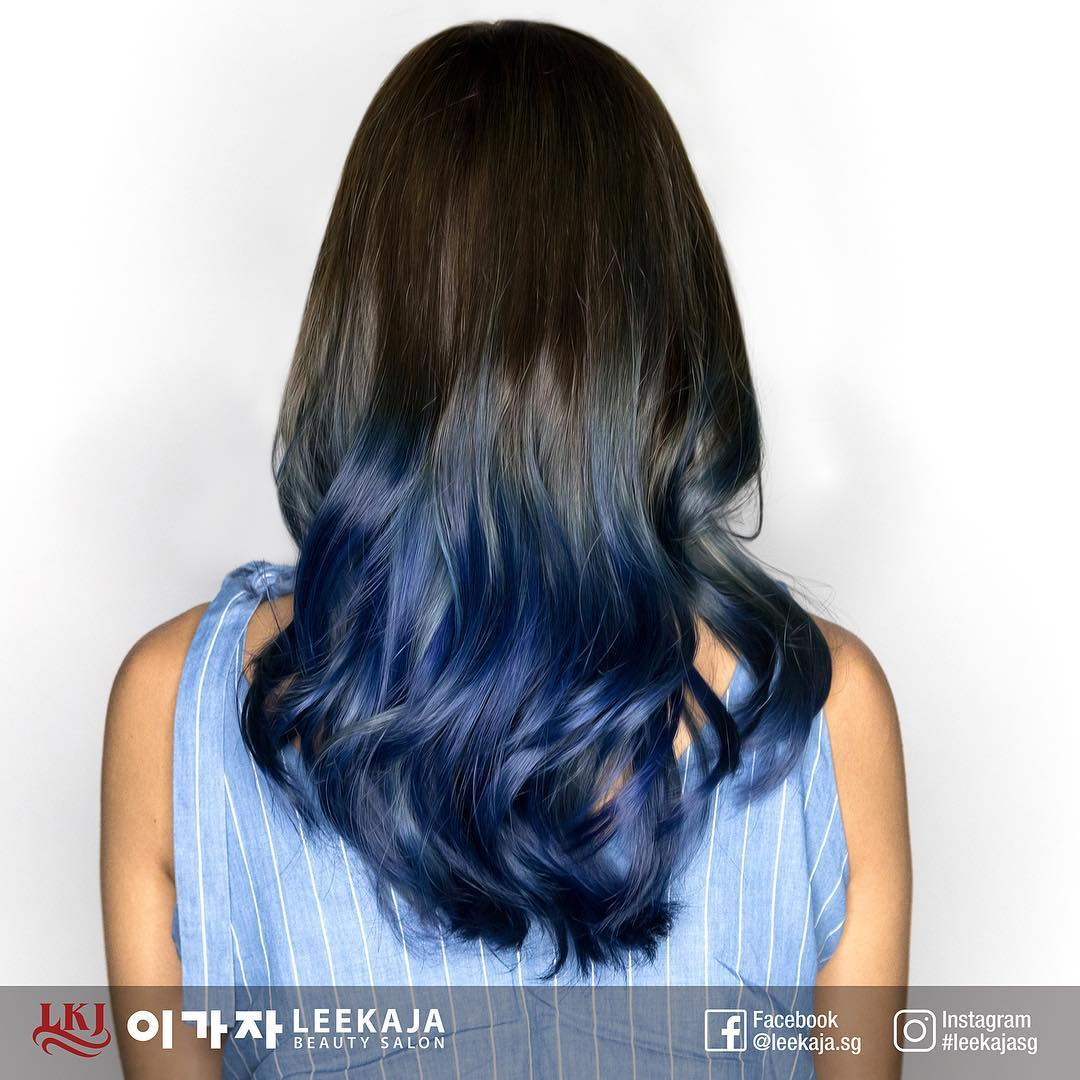 Dark Blue Ombre Hair Colour for Water Ba Zi Element