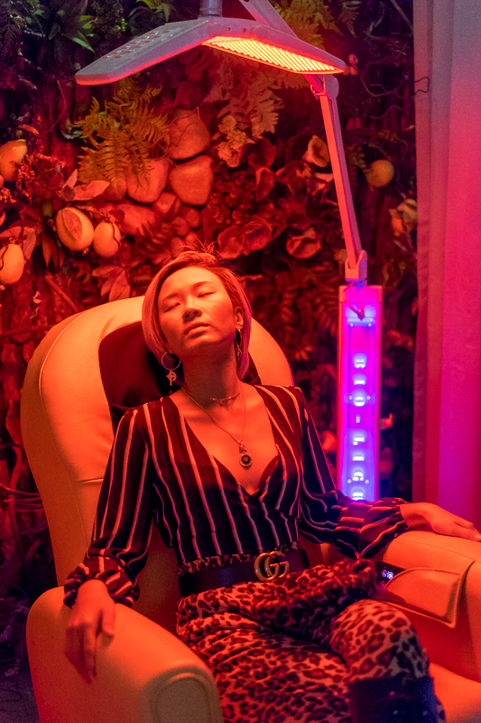 Complimentary Infrared Scalp Machine at Chez Vous Hideaway