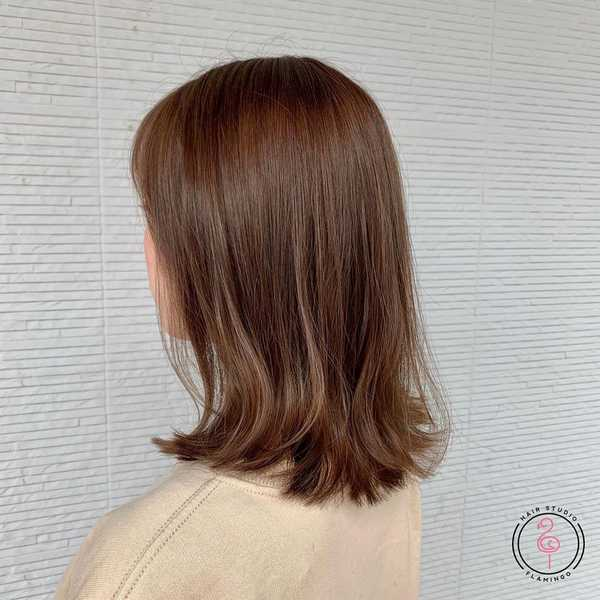 Natural Shoulder Length Haircut by Marco from Flamingo Hair Studio