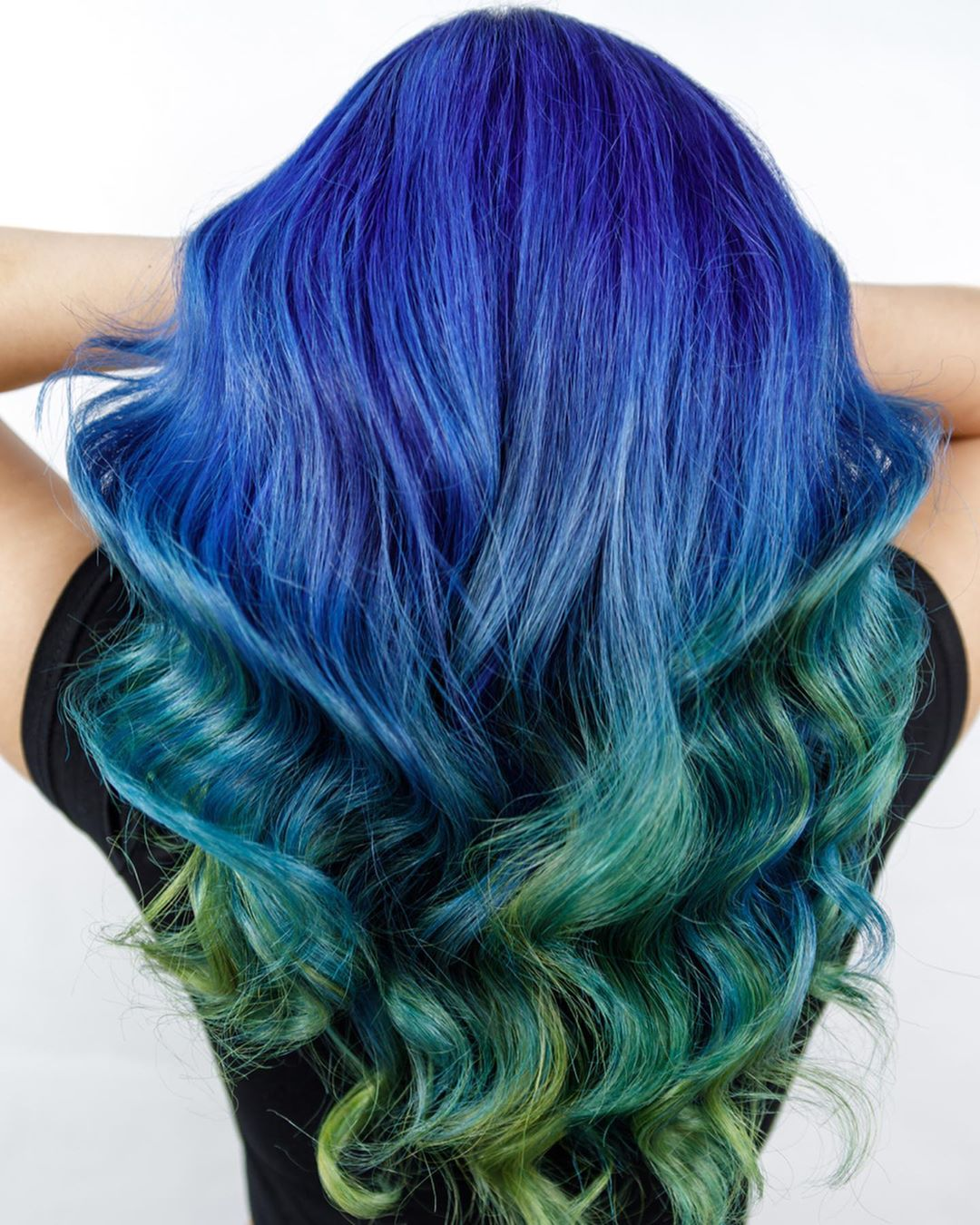 Peacock Blue Green Hair Colour by Walking on Sunshine
