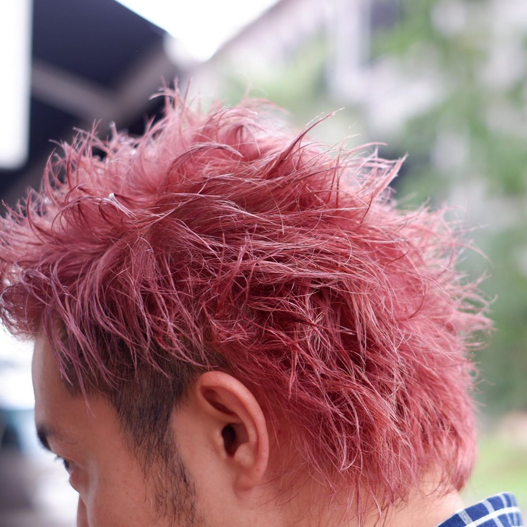 High Maintenance Men's Pink Hair Colour at Finder by COVO