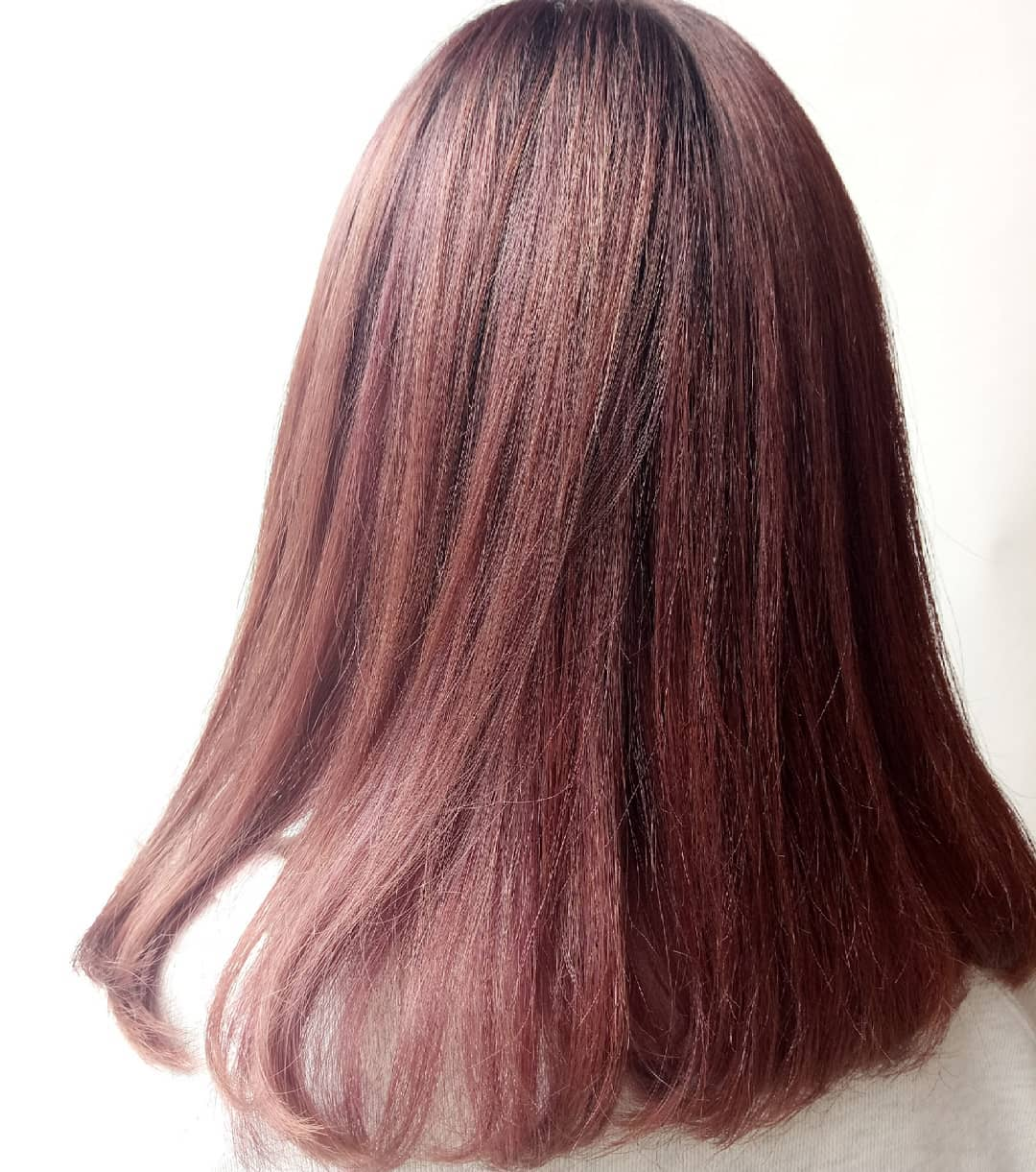 Dark Red Hair Colour by Manami from Walking on Sunshine