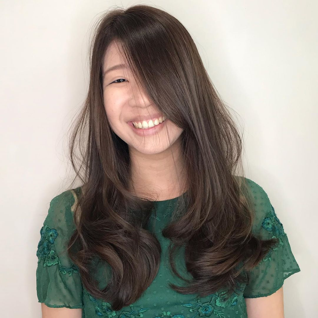 Long Haircut with Big Wave Perm by COVO