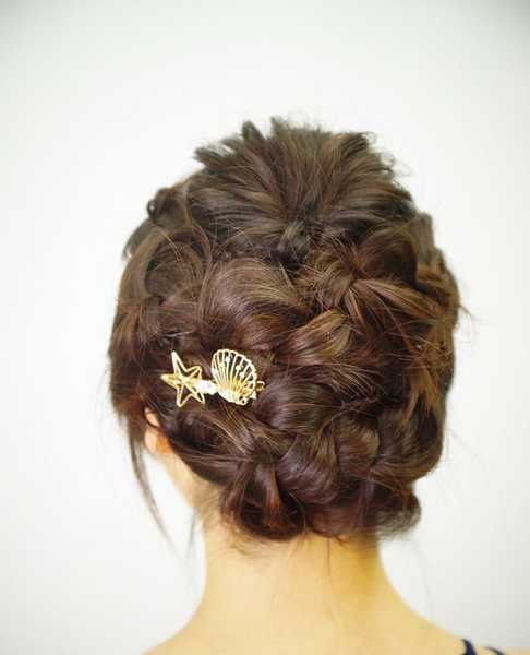 Braided Updo for D&D and Parties at Michaela Japanese Hair Salon