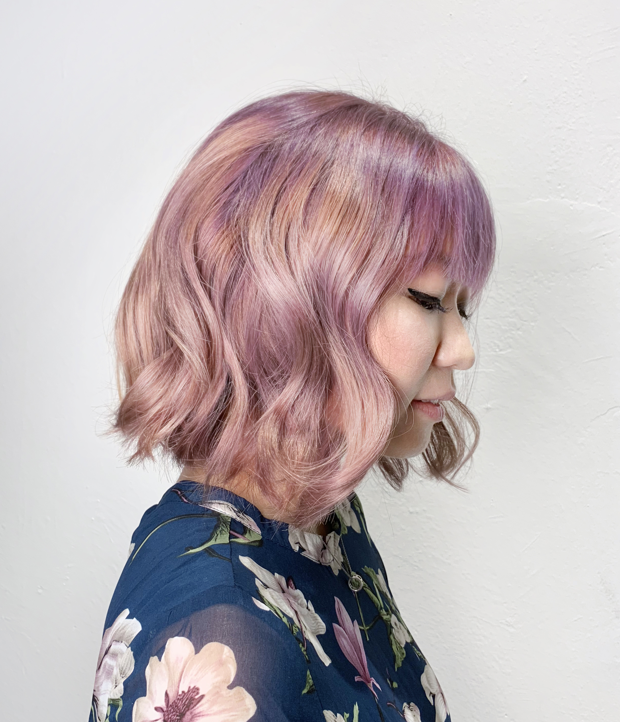 Short Hair Pastel Pink Purple by Sham from Be Salon