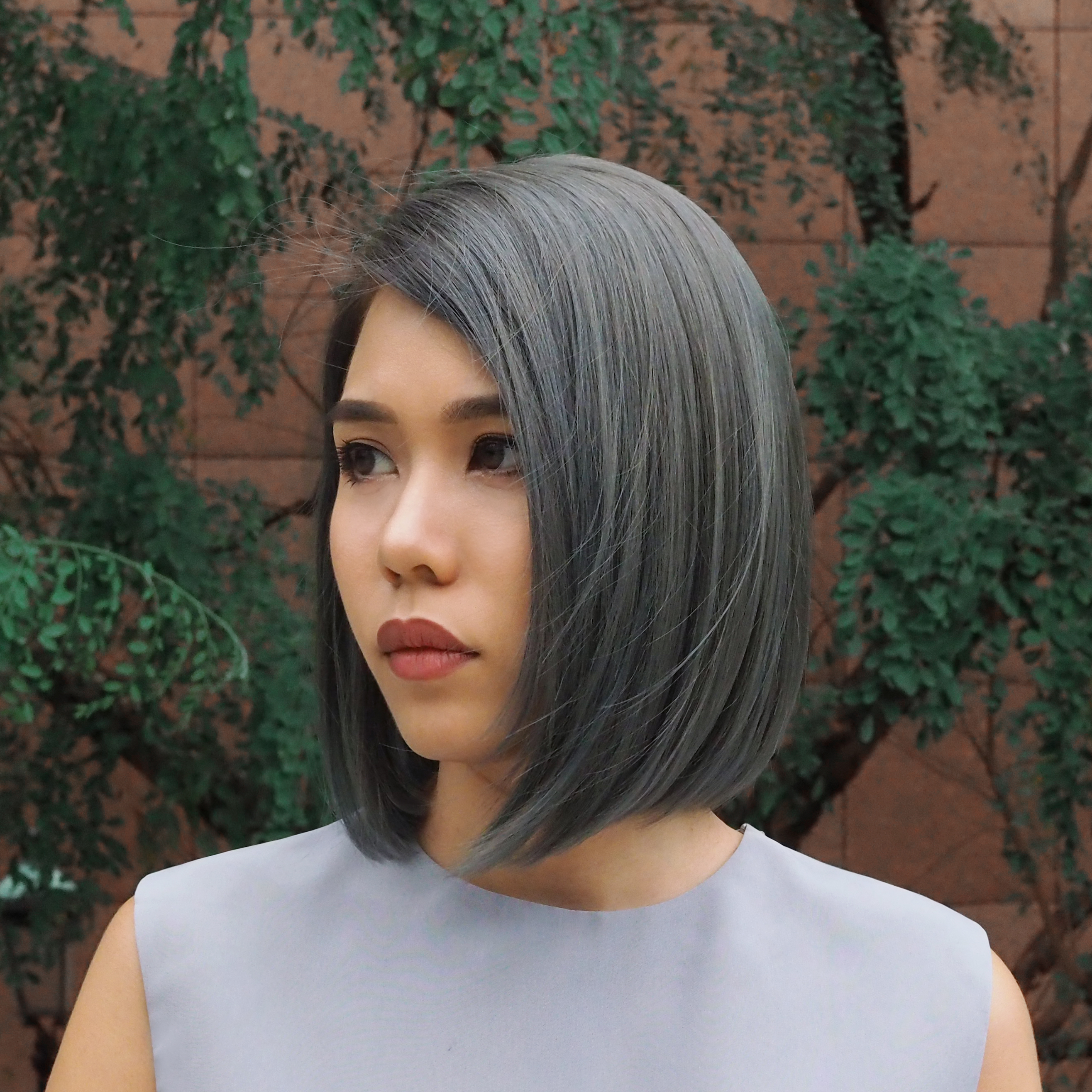 Grey Colour Lob by Sham from Be Salon