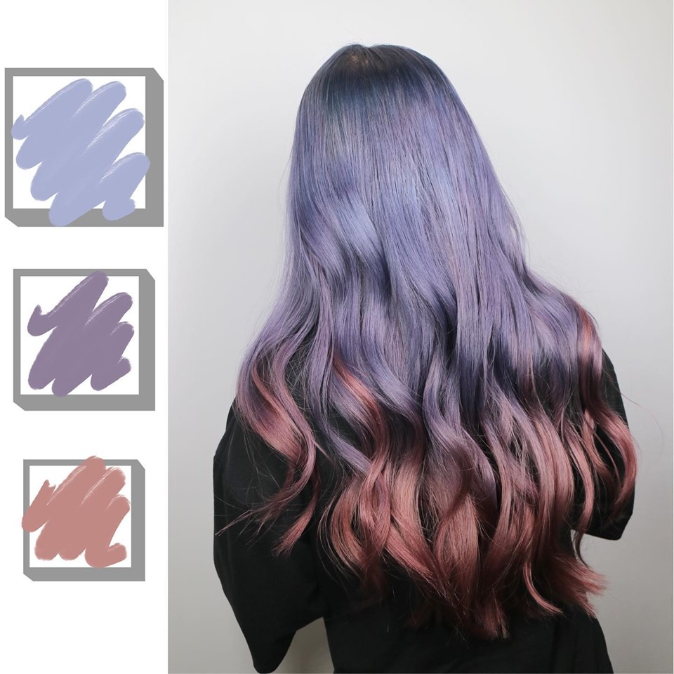 Rainbow Purple Pink Hair Colour by 99 Percent