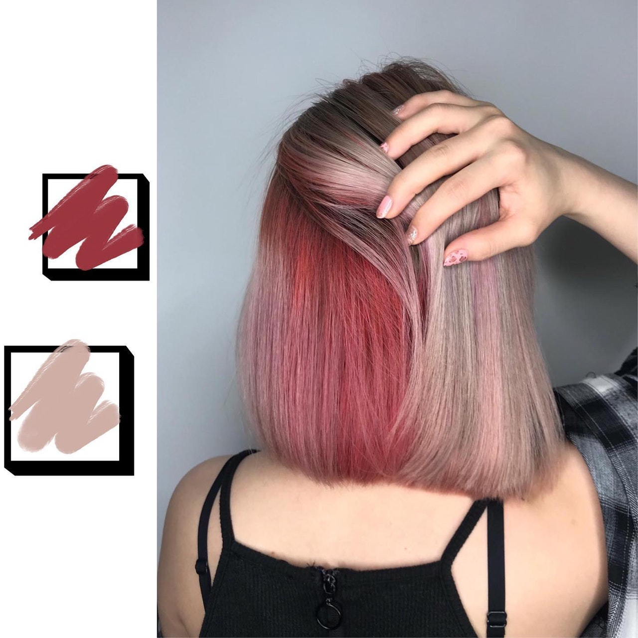 Red Pink Hair Colour by 99 Percent Hair Studio