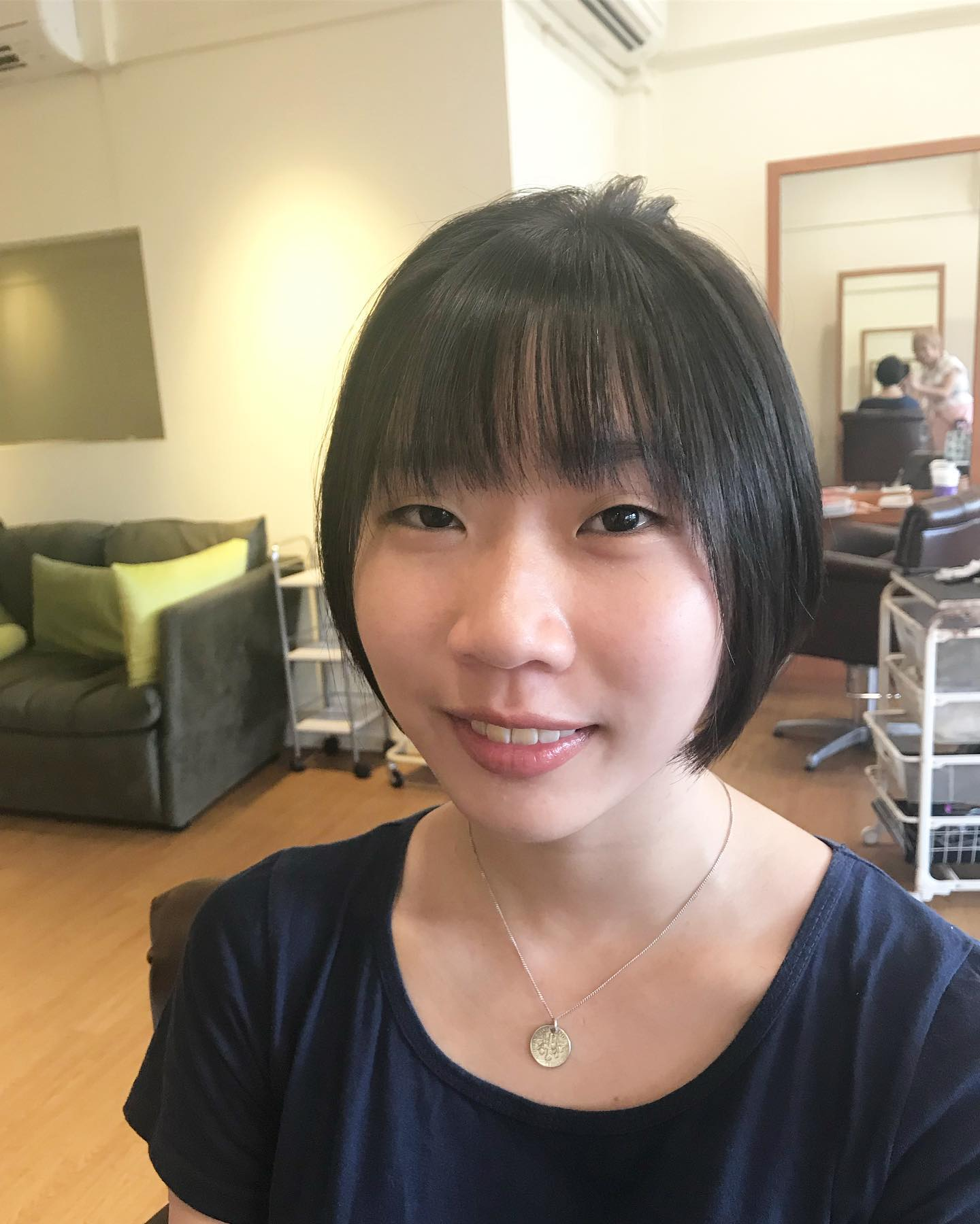 Short Round Bob with Bangs by Art Noise