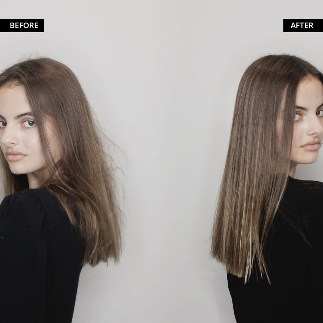 Before and After Tokio Hair Treatment on Straight Hair