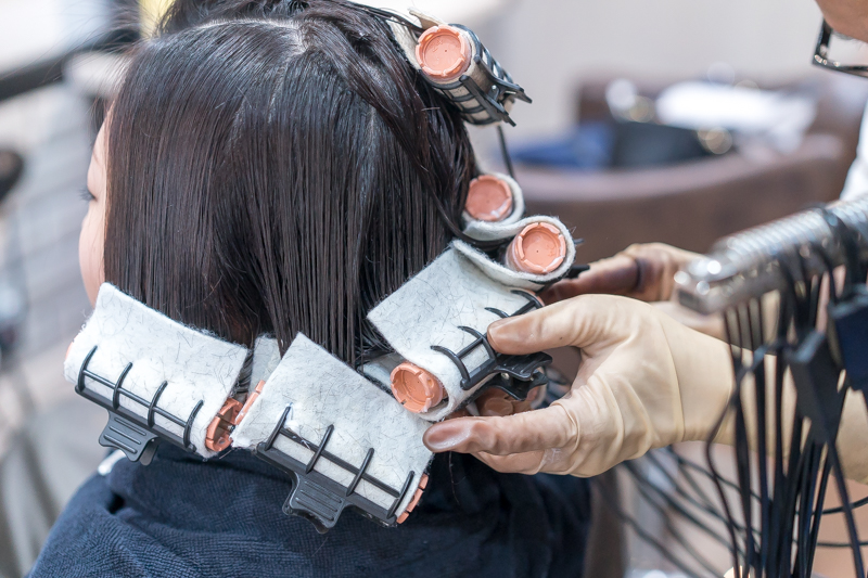 Curling Process of Care Perm at Bump by AVENTA