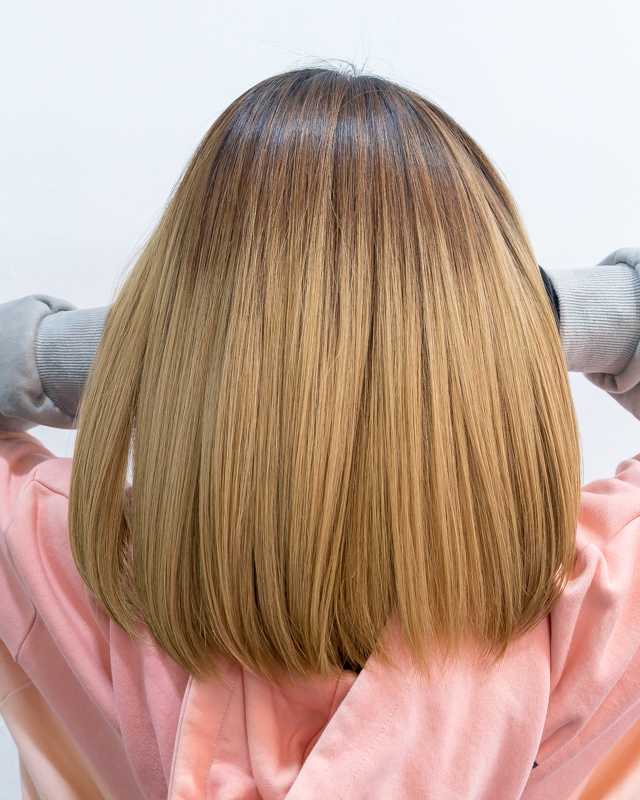 Smooth and Straight After Hair Treatment