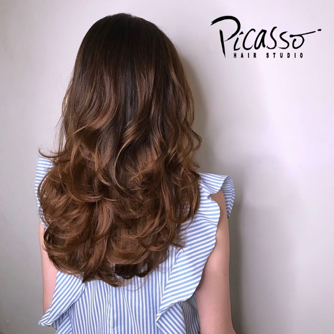 Natural Brown Hair Colour Suitable For Work by Picasso Hair Studio