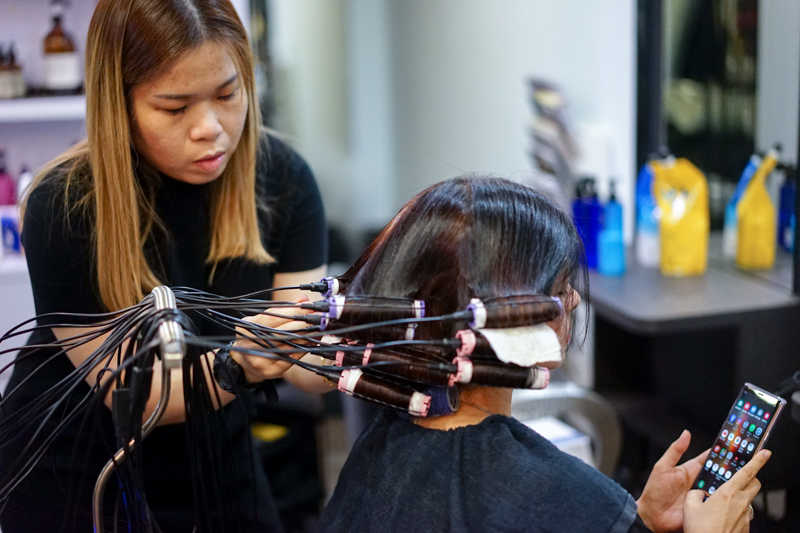 Getting a Blowout Perm at Focus Hairdressing