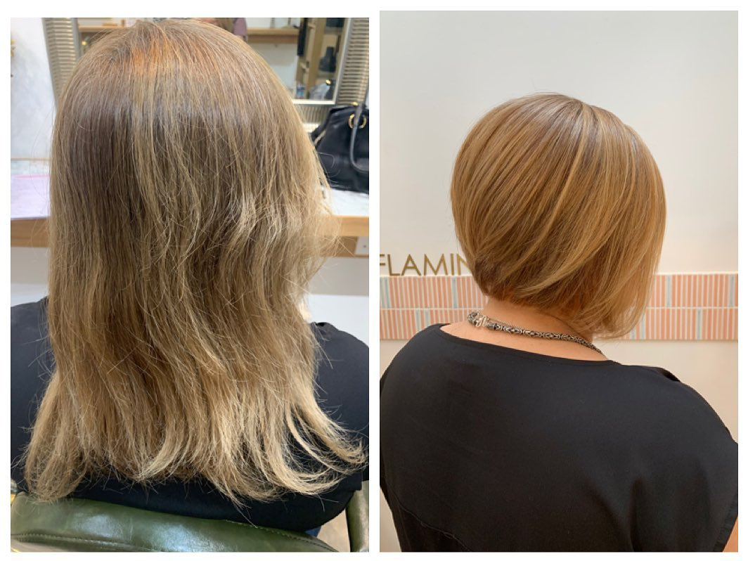 Before and After Haircut by Flamingo Hair Salon