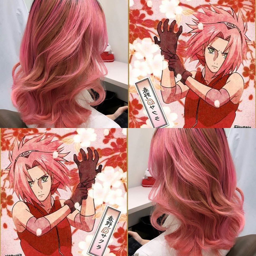 Naruto-Inspired Ash Rose Hair Colour by Finder by COVO