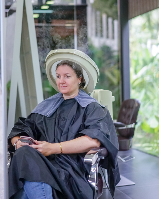 Application of Keratin Treatment on Frizzy Hair at The Bund AMK