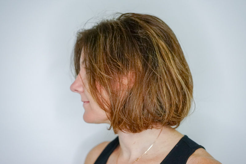 Frizzy and Messy Caucasian Hair Before Keratin Treatment