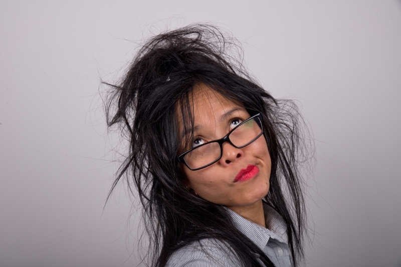 Busy Woman Messy Hair
