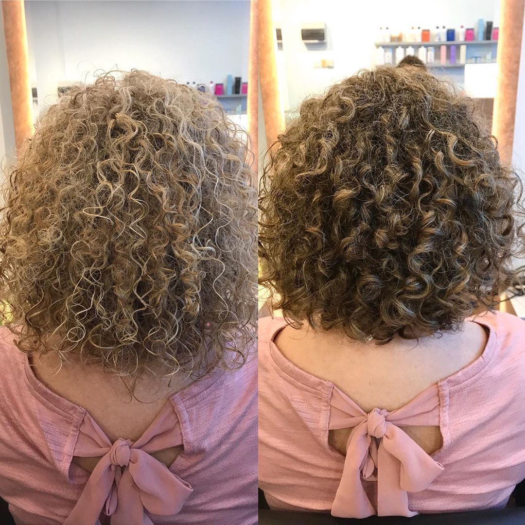 Brown Colour and Haircut For Curly Hair by Ann's Studio