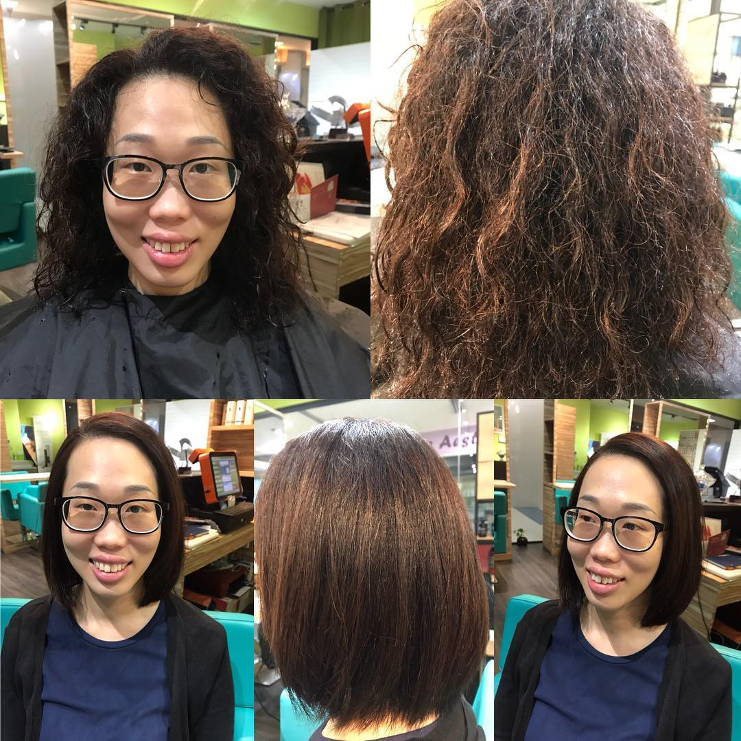 Rebonding Before and After by Curly Ann