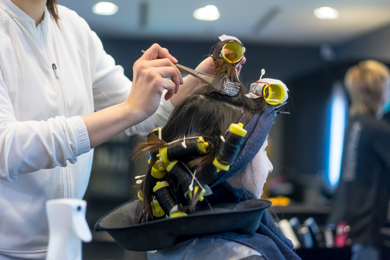 Curling Process of Barely There Perm at Kenaris Salon