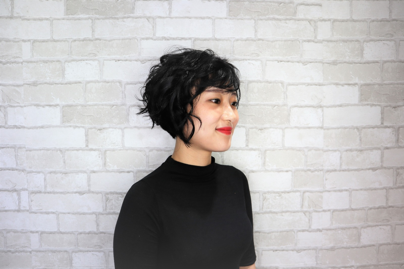 Korean Trendy Short Hair Cut and Curly Perm by Style NA