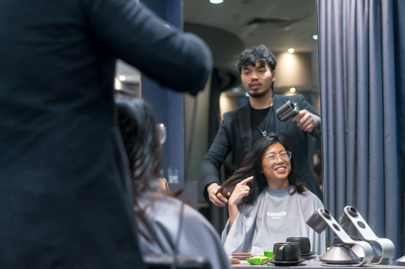 Styling at Chez Vous Hair Salon