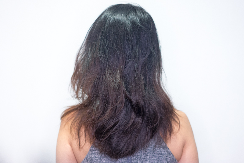 Dry, Damaged and Frizzy Hair Before Sugar Hair Lamination at Chez Vous