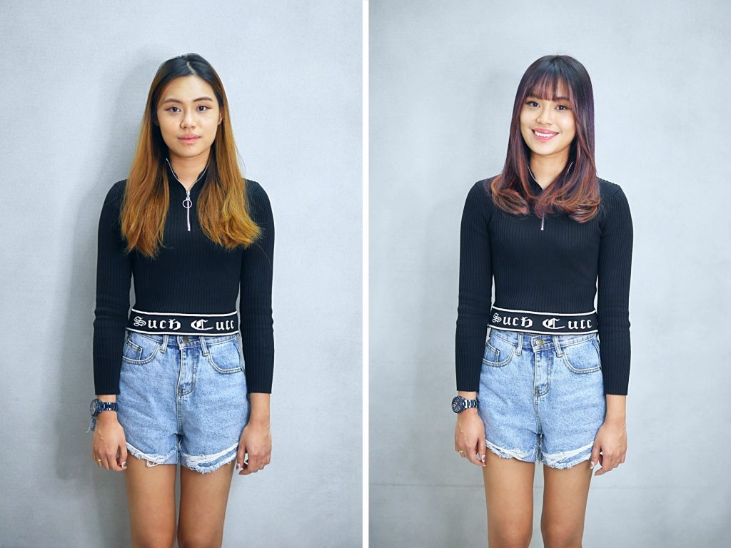 Haircut with Face Framing Fringe by Chez Vous Salon