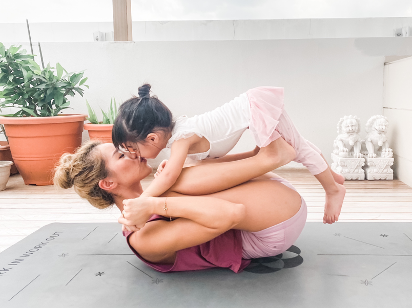 Acro Front Plank + Presses Yoga Pose for Parents and Kids