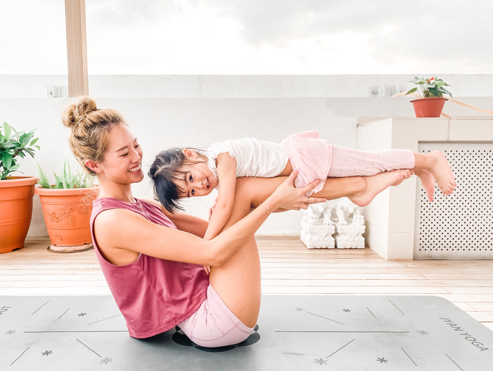 Acro Yoga Boat Pose for Parents and Kids