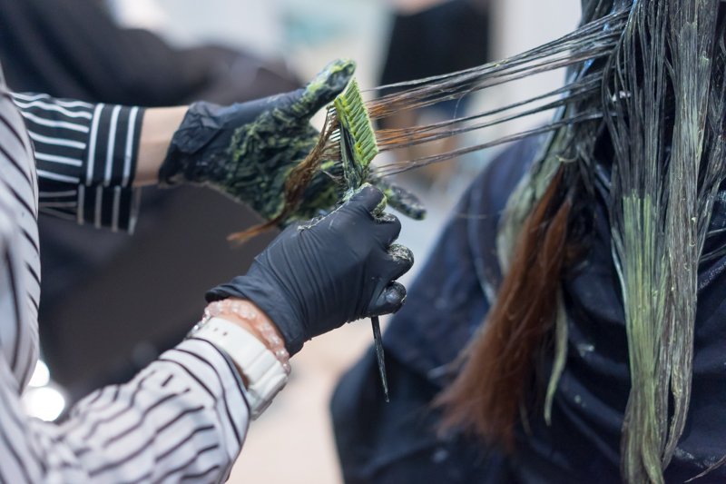 Hair Dyeing with Ash Green to Neutralize Reddish Colour at No. 8 Hair Studio