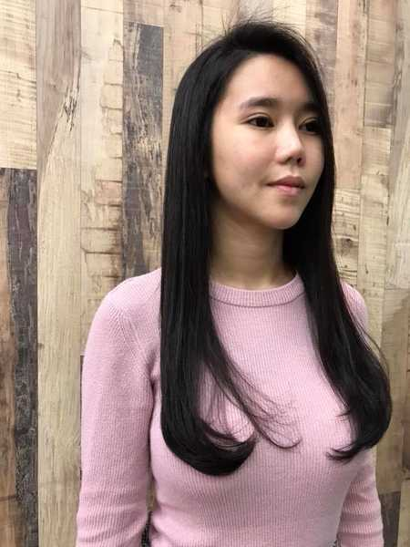 Rebonding and C Curl Perm on Long Hair by Act Point Salon