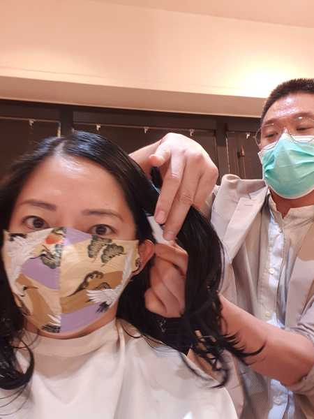 Haircut While Wearing Mask During COVID-19 at The Urban Aesthetics