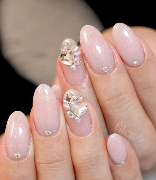 High Coverage Nude Japanese Gelish Nails